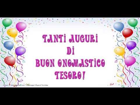 Estremamente Tanti auguri di Buon Onomastico Amore Mio! - YouTube RX13