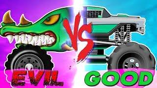 Monster Truck | Good Vs Evil | Street Vehicle Videos For Children