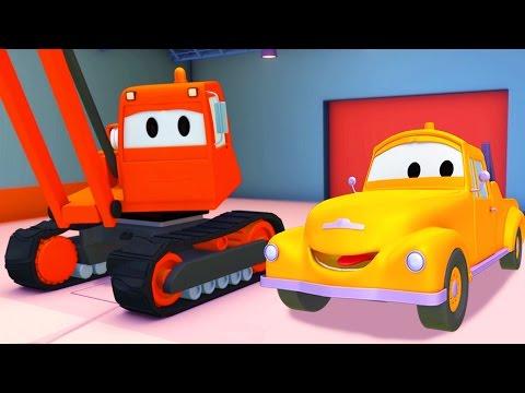 Tom la Grúa y la Grúa Demoledora en Auto City | Dibujos animados para niños