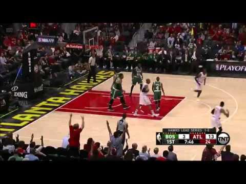 Kyle Korver 4 3 Pointers in first Quarter   Celtics vs Hawks G2