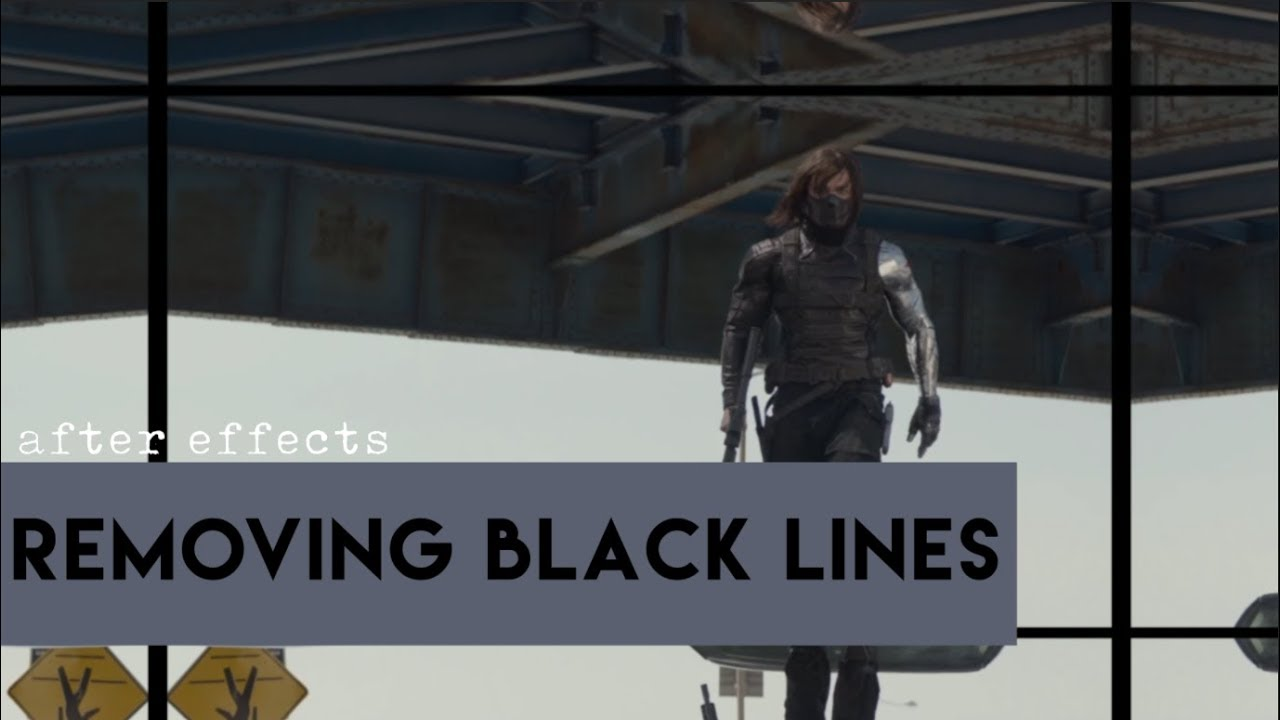 After Effects   Removing Black Lines/Borders From Clips