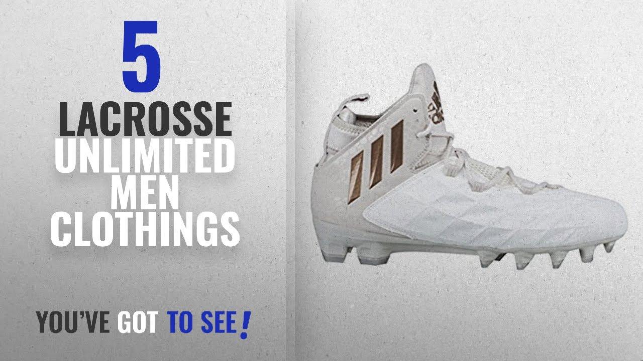 Top 10 Lacrosse Unlimited Men Clothings   Winter 2018    adidas Freak Lax  Mid Cleat 7.5 White-Copper 63bebae7f