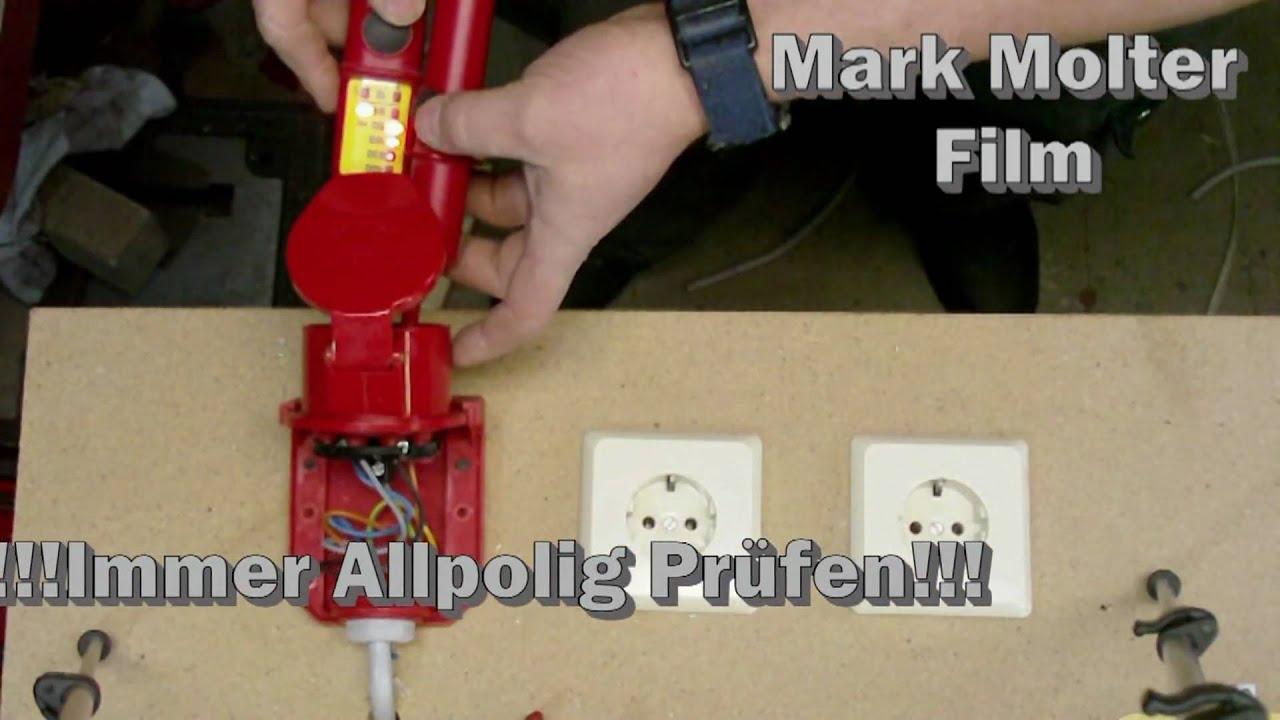 Elektroinstallation Teil 3 : Anschließen einer CEE 16 A 400V ...