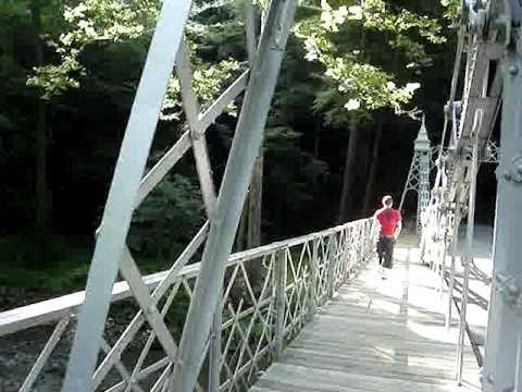 youngstown, ohio mill creek park silver bridge.mpg