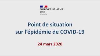 COVID-19 | Conférence de presse, 24 mars 2020, par le Directeur général de la santé  | Gouvernement