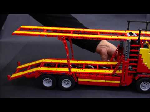 mercedes arocs autotransporter moc lego technic youtube. Black Bedroom Furniture Sets. Home Design Ideas
