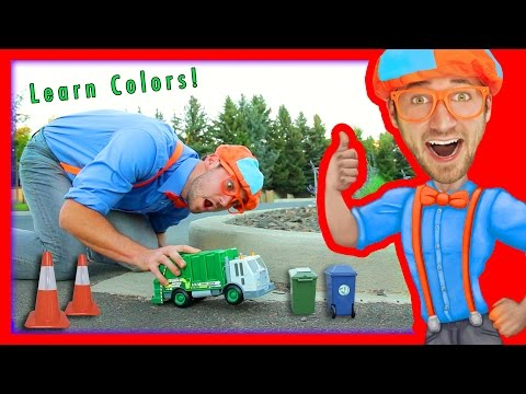 Thumbnail: Learn Colors for Toddlers with Blippi Toys | Garbage Truck Toy