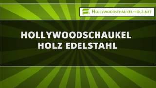 Hollywoodschaukel Edelstahl Holz