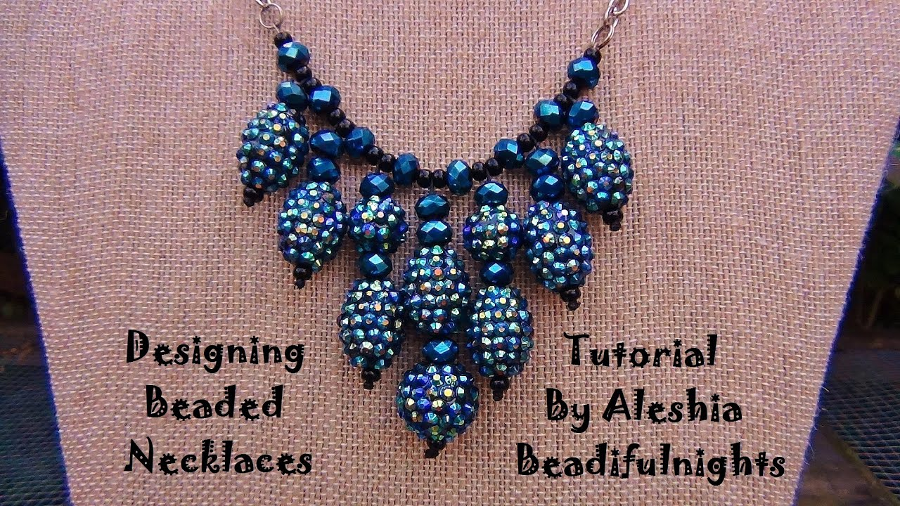 Designing Beaded Necklaces Tutorial - YouTube