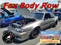 Fox body Mustang Row at Fabulous Fords Forever 2018 Mustang Connection