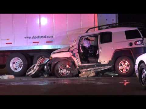 SUV Crash Into Back of Semi-Trailer Truck at Elmhurst Rd and Touhy Ave, Elk Grove Village