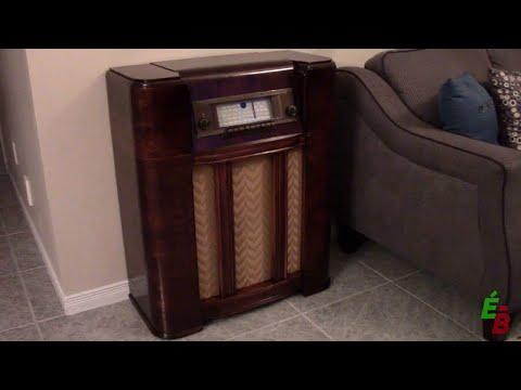 EB_#106 Restauration Console Radio R301, partie 8: Refinition du Meuble et Assemblage Final