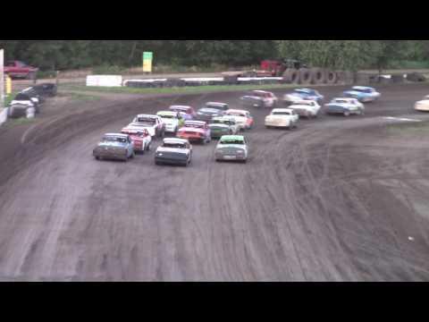 Tom Kracht rolls it -- 6/23/17 -- Rapid Speedway