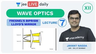 Wave Optics - Lecture 7 | Class 12 | Unacademy JEE | Live Daily | IIT JEE Physics | Jayant Sir
