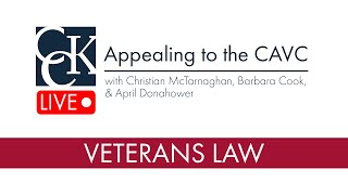Appealing to the Court of Appeals for Veterans Claims (CAVC)
