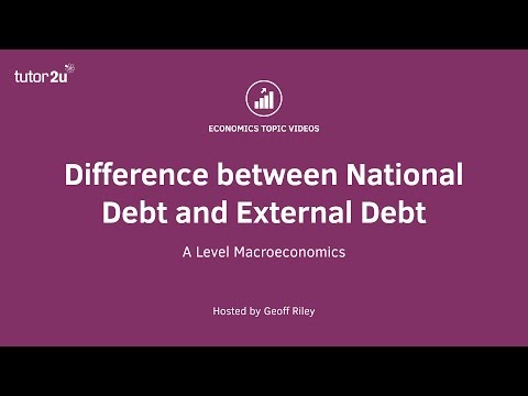 Difference between National Debt and External Debt