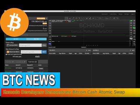 BTC News - Komodo Developers Demonstrate Bitcoin Cash Atomic Swap