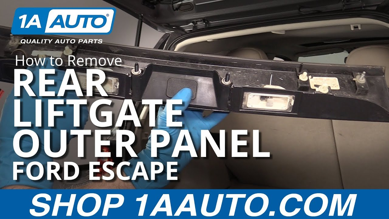 How to remove rear liftgate outer panel applique ford