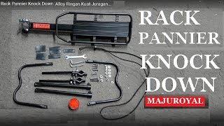 Rack Pannier Sepeda Touring Knock Down Alloy Ringan Kuat Juragan...