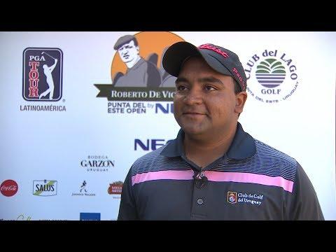 Entrevista con Juan Álvarez antes del Roberto De Vicenzo Punta del Este Open Copa NEC