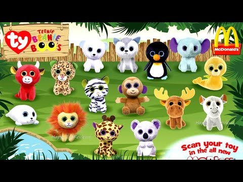 2017 McDONALD S TY TEENIE BEANIE BOO S HAPPY MEAL TOYS PLUSH FULL SET 15  KIDS COLLECTION PREVIEW USA 14a0c27eaec