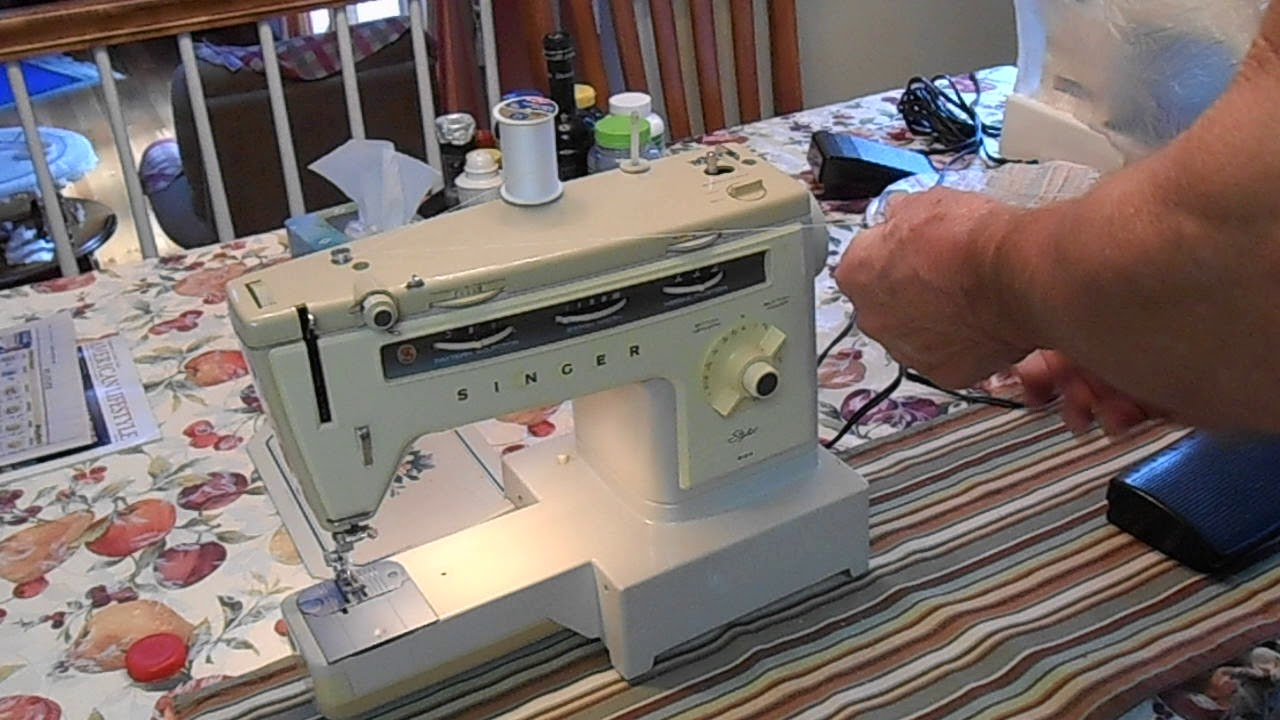 how to wind a bobbin on a singer stylist sewing machine model 534