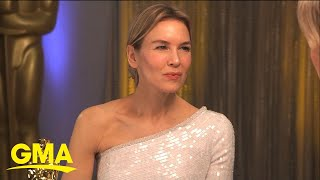 """Renee Zellweger, Laura Dern and """"Parasite"""" director celebrate Oscars victory l GMA"""