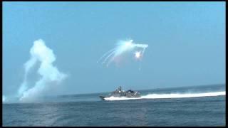 ミサイル艇IRデコイ発射