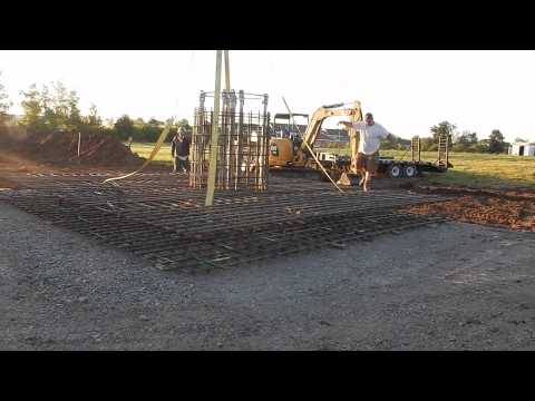 WXLW 150 Foot Monopole Foundations Only Installation