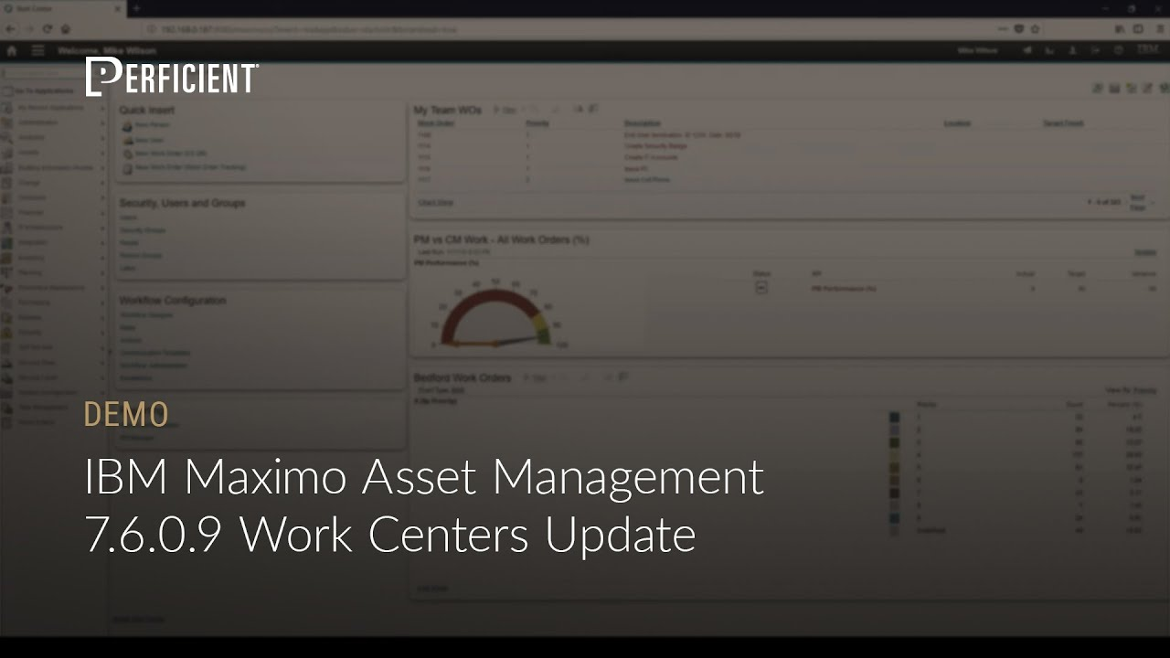 IBM Maximo 7 6 0 9 Work Centers - Quick Demonstration