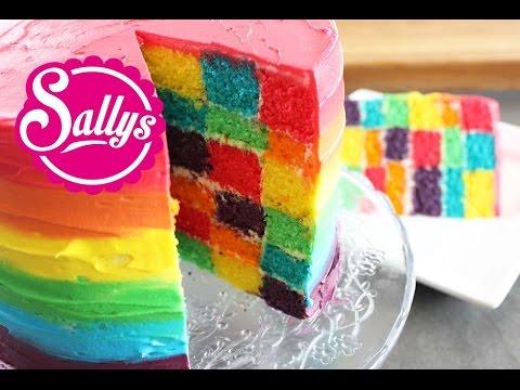 Regenbogentorte / Galileo / Rainbowcake / Schachbrettmuster / Chess Board