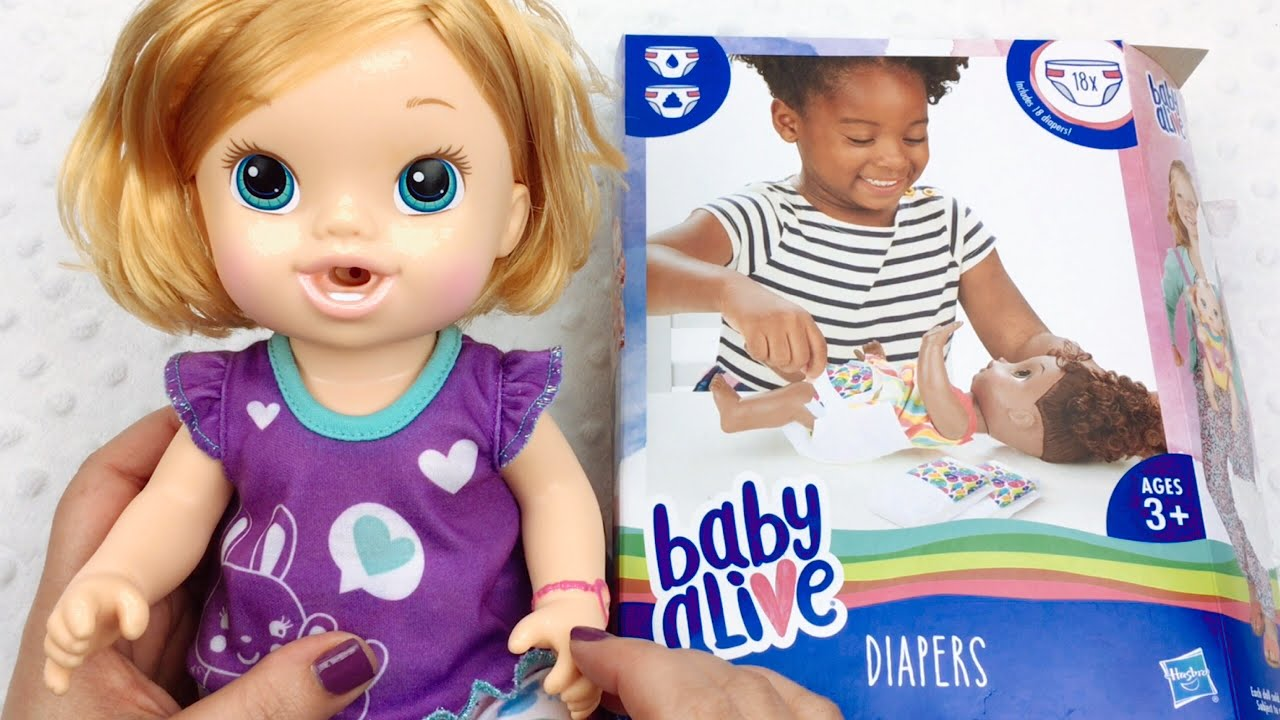 Huge 18 Pack Of Baby Alive Diapers From Toys R Us Youtube