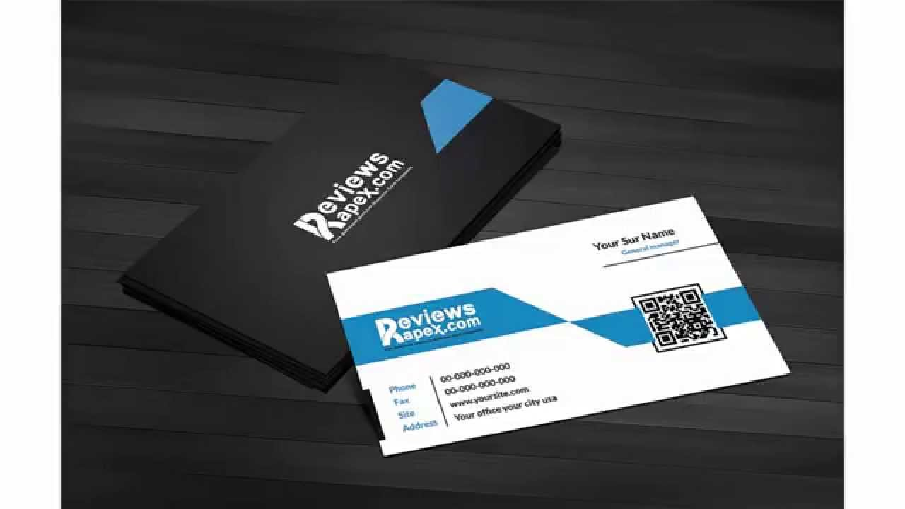 Free Download Black   Blue Corporate Business Card Template with QR     Free Download Black   Blue Corporate Business Card Template with QR Code