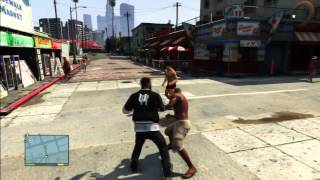 gta 5   easter egg   mr t   franklin s first fight with mr t