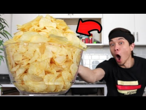 Potato Chip Challenge (4 Large Bags) *PAINFUL*