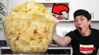 Potato Chip Challenge (4 Large Bags) *PAINFUL*...