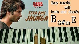 kabir-singh-tera-ban-jaunga-easy-piano-tutorial---shahid-k-kiara-a-sandeep-v-tulsi-kumar