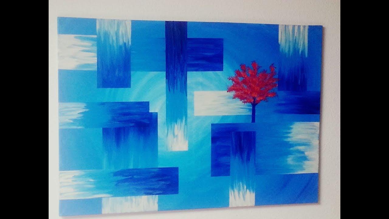 Malen acryl abstrakt baum acrylic painting - Baum malen ...