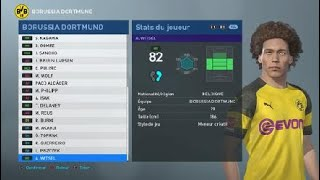 [PES 2019] BV 09 بوروسيا دورتموند إنشاء إحصائيات اللاعبين
