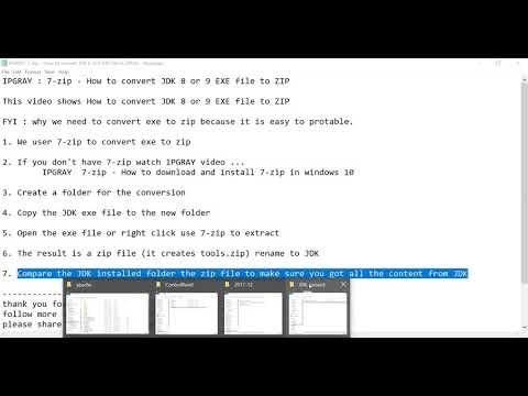 IPGRAY : 7 zip - How to convert JDK 8 EXE file to ZIP - YouTube