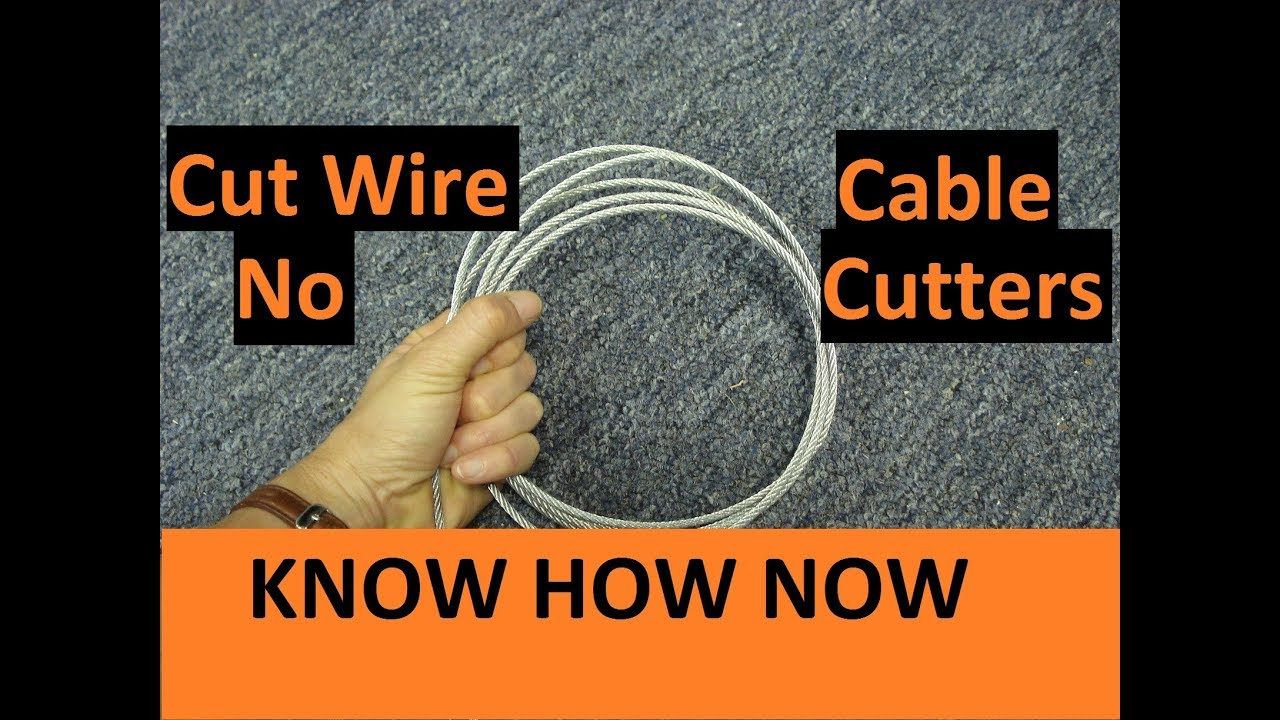 Cut Wire Rope Without Cutters - YouTube