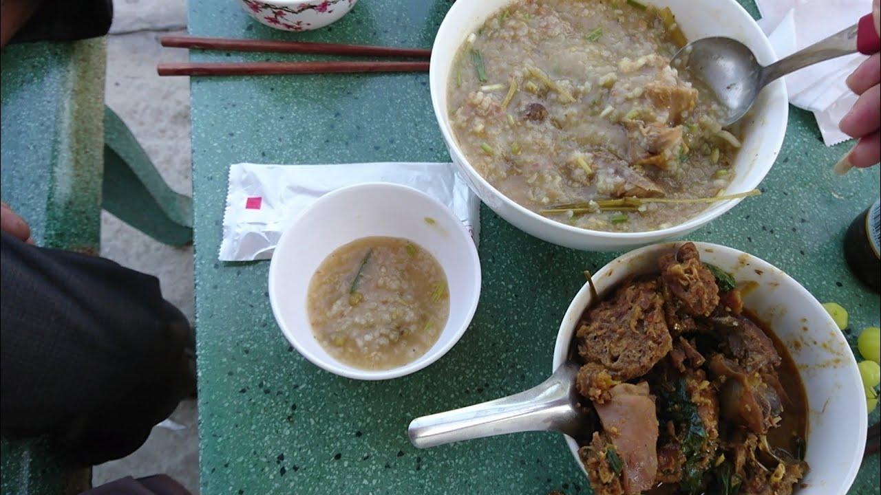 sang nhà cậu ăn ké món gà già nấu cháo cối | NKMT