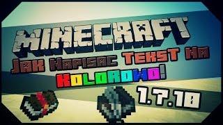 Minecraft: Tricki & Ciekawostki - Jak napisać tekst na kolorowo w Minecraft! [1.8.x] [PL] [UPDATE!]