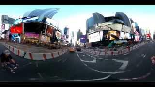 Панорамное видео 360. Фруктоед гоняет по Нью-Йорку на велосипеде