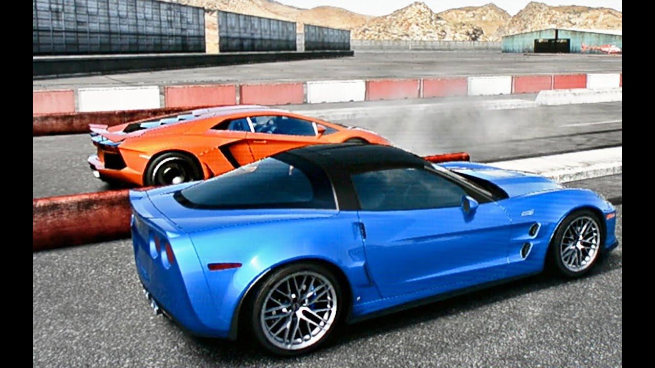 corvette zr1 vs lamborghini aventador drag race youtube. Black Bedroom Furniture Sets. Home Design Ideas