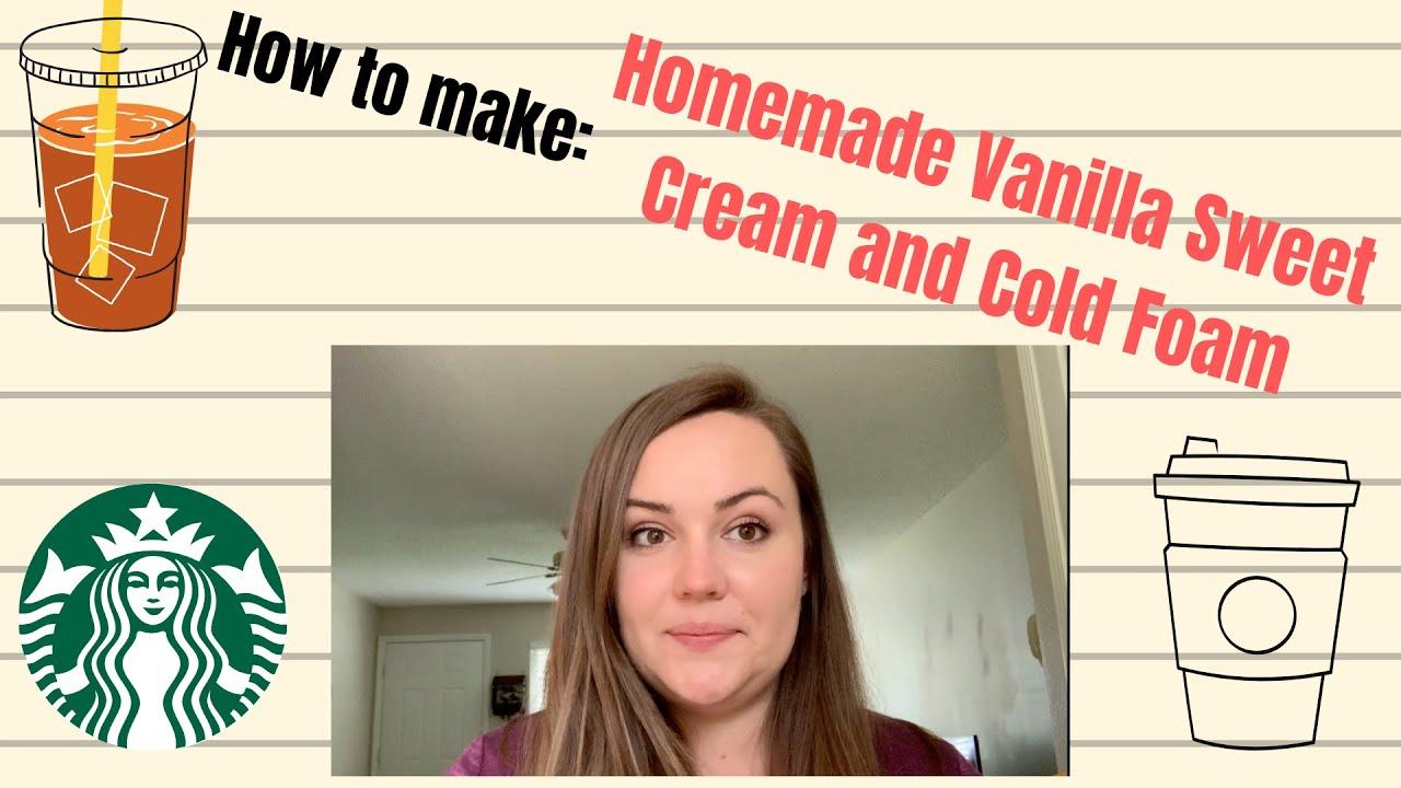 STARBUCKS VANILLA SWEET CREAM RECIPE || The Real Deal - YouTube