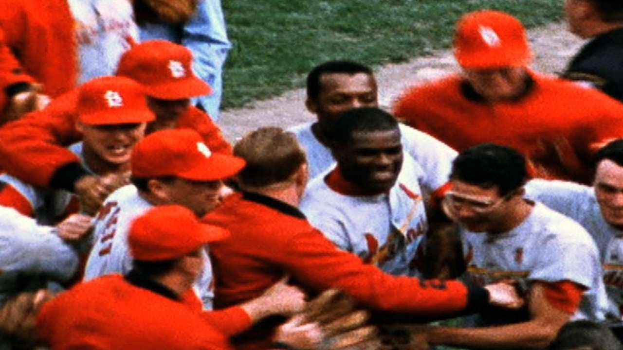 1967 WS Gm7 Gibsons K Seals Cards World Series Win