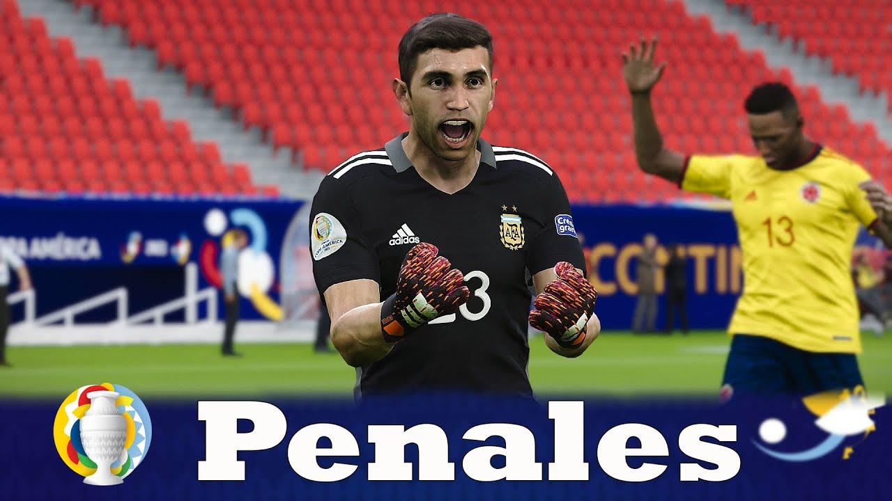 Recreación Colombia vs Argentina - Penales Copa América 2021