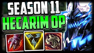 How to Play Hecarim Jungle & CARRY LOW ELO | Best Build & Runes - Hecarim Commentary Guide