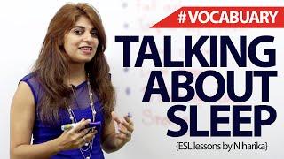 English Phrases to talk about Sleep – Free Spoken English lesson